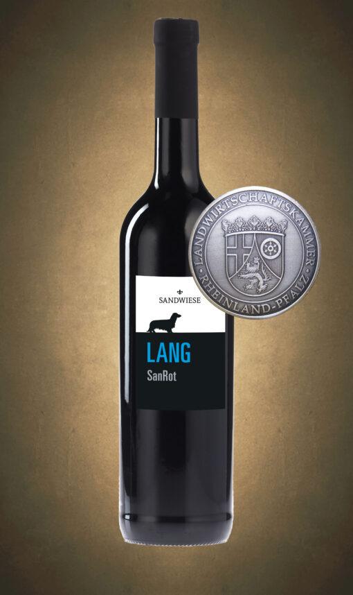 Sandwiese Wein LANG SanRot Sandwiese Wein Dackelwein Weingut Worms Familienweingut Familiengeführt Winzermeister Dackelweingut Dackel RAU LANG KURZ