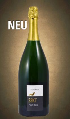 Magnum Pinot Blanc Brut traditionelle Flaschengärung Deutscher Winzersekt Deutscher Sekt Champagner Magnum Flasche